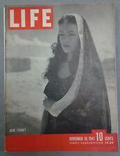 LIFE MAGAZINE NOVEMBER 10 1941 ZEPHYR HYPNOTISM SIGNAL CORP GENE TIERNEY WWII