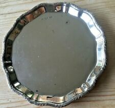 Hallmarked silver Mappin & Webb tray/small salver Sheffield 1932. 112 grams.