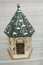 ~Kathy Hatch~ Christmas Snowman Sled Collection Handpainted Bird House/Gazebo