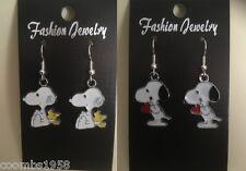 Tibetan silver enamel Snoopy Earrings