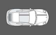 Porsche 911 (997) Bonnet & Roof Double Twin Stripe Decal Graphics Set. Non OE