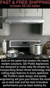 *FREE SHIPPING* New OEM GE Profile 30'' Bluetooth Stainless Range Hood LED Light