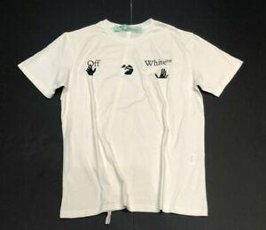 Off White L   T-Shirt mit Logo  -  L  *  Weiß  #