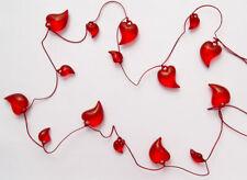 Herzgirlande mit 15 Herzen am Band Herzen Deko Band