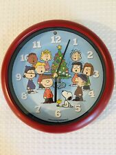PEANUTS CHARLIE BROWN CHRISTMAS SHOW COLLECTIBLE MUSICAL CLOCK,2010