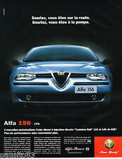 PUBLICITE ADVERTISING 065  2000  ALFA ROMEO  la 156 JTD COMMON RAIL