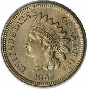 1859 Indian Cent AU Slider Uncertified