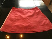 WOMENS Adidas ClimateCool Skort Golf Tennis Lined Size 8 PINK WHITE STRIPES