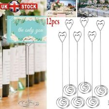 12x Wedding Favors Place Card Holder Table Photo Memo Number Name Clips Base UK