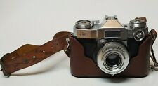 VINTAGE ZEISS IKON CONTAFLEX 35 MM CAMERA SYNCHRO-COMPUR COLLECTIBLE PHOTOGRAPHY