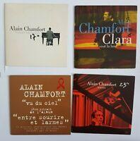 ALAIN CHAMFORT ╚ LOT DE 4 x CD SINGLE ╚ VU DU CIEL (Promo), CLARA VEUT LA LUNE..