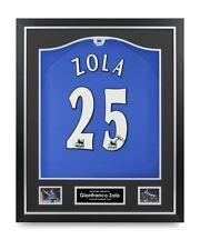 Gianfranco Zola Signed Shirt Chelsea Framed Autograph #25 Jersey Memorabilia COA