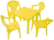 Children's Outdoor & Indoor Table & Chair Set - 4 Chairs, 4 colors Made in Italy