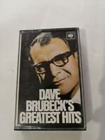Dave Brubeck's cassette Dave Brubeck's Greatest Hits CBS, 6/5 tracks Free p&p UK