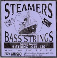 STEAMERS 45-130 GAUGE 5 STRING BASS STRINGS SET, MADE in USA, NEW