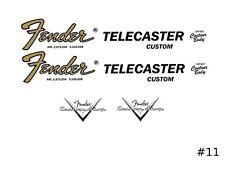 Fender Telecaster Guitar Waterslide Headstock Restoration Decal logo #11