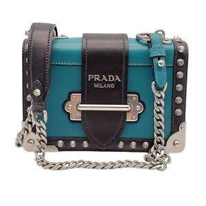 100% Authentic  Prada Cahier Leather Shoulder Bag