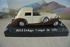 Solido 4051 Delage Coupe de Ville   1:43 Scale  Cream and Brown fenders    NEW