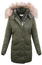 Designer Ladies Winter Jacket Parka Coat Women's Coat Hood Real fur D-410 New