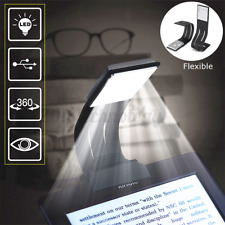 USB Rechargeable Clip On Book Light LED Flexible Reading Lamp For Kindle Reader