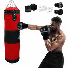 Boxsack Set Boxhandschuhen Erwachsene Gefüllt Sandsack Punching Bag+Handschuhe .