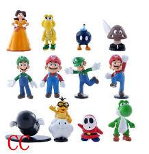 12pcs Super Mario Bros yoshi PVC Action Figures toy