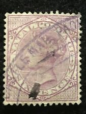 1874-78 NATAL SC# 54 A11 QUEEN VICTORIA 6P HR NG FINE USED VIOLET STAMP CV $9.00