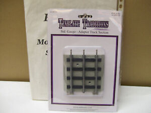 NEW MTH STANDARD GAUGE ROADBED ADAPTER TRACK STRAIGHT SECTION # 10/11-99010