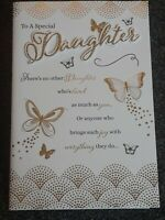 DAUGHTER HAPPY BIRTHDAY CARD HIGH QUALITY  4 PAGE LONG NICE VERSE
