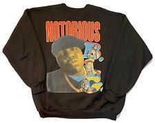 Vtg Bay Club Mens 90s Biggie Notorious Big Bootleg Rap Tee Crewneck Shirt XL Fit