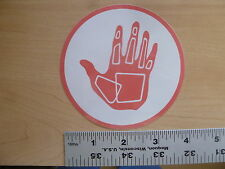 "Body Glove 4"" Peach/White Circle Sticker Decal"