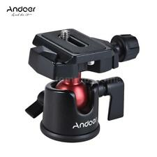 Andoer Mini Tripod Monopod Ball Head Ballhead+Quick Release Plate fr DSLR Camera