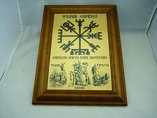 Rune viking vegvisir boussole, odin, thor et freya wall art imprimé sur métal