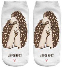 Hedgehugs socks Love hug Echidna love valentine Hedgehog best gift novelty sock