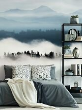Horizon Mountains Mural Wall Art Wallpaper - Peel and Stick