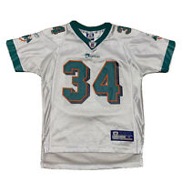 Rare Youth Miami Dolphins NFL Jersey By Reebok Size M White #34 Ricky Williams