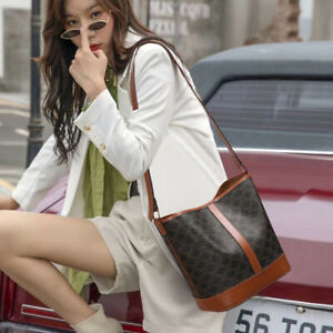 Classical Retro Women's Faux Leather Shoulder Bag messenger bag Bucket bag