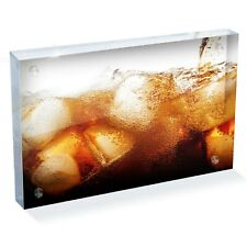 """Refreshing Ice Cold Cola Photo Block 6 x 4"""" - Desk Art Office Gift #16082"""