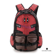 Deadpool Marvel Laptop Traveling Backpack Bag Captain America Batman Bookbag Hot