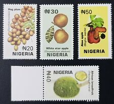 NIGERIA 2001 - FRUITS FRUIT APPLE PLUM BREADFRUIT LEAFS - RARE MNH
