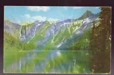 GLACIER NATIONAL PARK 1957 Avalanche Lake Postcard
