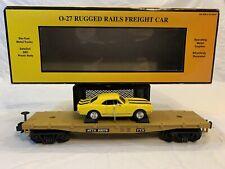 MTH RailKing 33-7607 Trailer Train Flat car with '67 Camaro Z28 NIB O Gauge