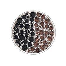 EC166 NEW Genuine Emozioni 25mm Corrente Brown / Black CZ Coin £59.95