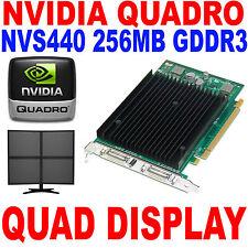 Nvidia Quadro NVS440 Graphics Card 256MB GDDR3 Quad Head DMS-59 PCI Express x16