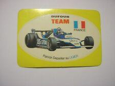 ADESIVO AUTO F1 anni '80 / Old Sticker PATRICK DEPAILLER LIGIER DUFOUR (cm 9x6)