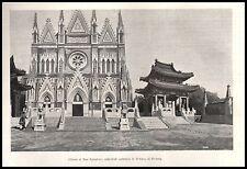 CHIESA SAN SALVATORE CATTEDRALE CATTOLICA PEKINO PE-TANG BOXERS MISSIONE  1900