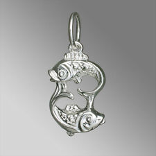 Silberanhänger Sternzeichen - FISCHE - Neu - 925 Sterling Silber