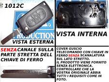 Guscio cover scocca chiave telecomando CITROEN C3 C4 C5 C8 3 tasti simbolo BAULE