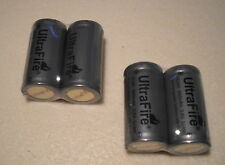 4 x UltraFire 16340 CR123A RCR123A 3,6 Volt Guns Lithium Ion Batteries PCB