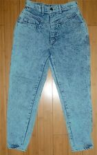 Vintage 80's Gitano High Waist Tapered Leg Green Acid Wash Jeans 9/10 Shorts